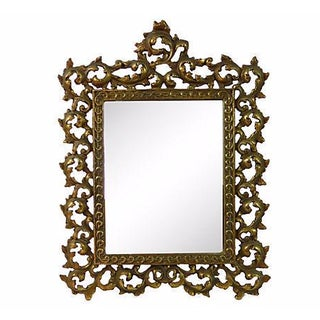 Solid Brass Rococo Table Mirror