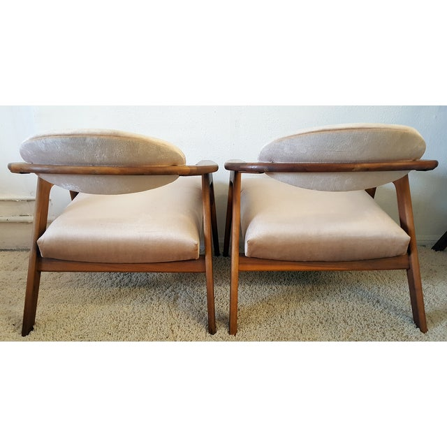 Adrian Pearsall Craft Captain Chairs - Pair - Image 2 of 8