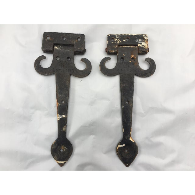 English Cottage Hand Forged Door Hinges - A Pair - Image 6 of 9