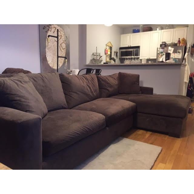 Brown Room & Board Metro Sectional Sofa And Chaise