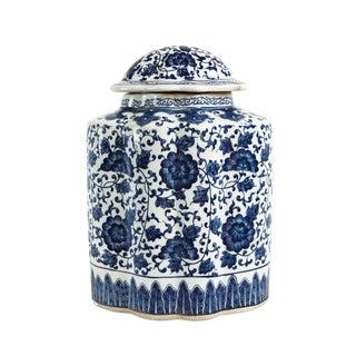 Blue & White Porcelain Ginger Jar