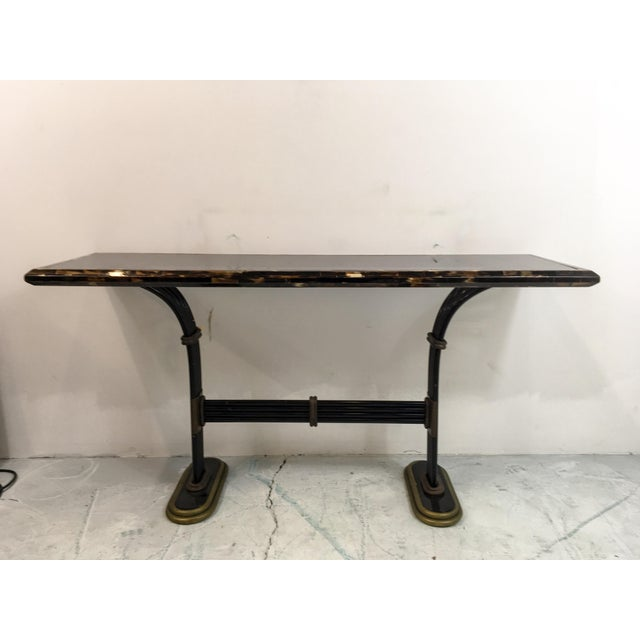 Maitland Smith Horn & Brass Console Table - Image 4 of 8