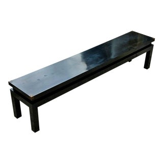 MID CENTURY MODERN Asian DUNBAR China Style BLACK LACQUERD Wood COFFEE TABLE Console