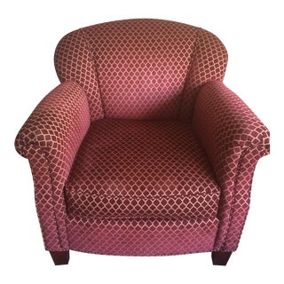 Red & Gold Custom-Made Armchair