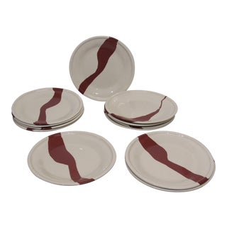 Terra Cotta Earthenware Plates - Set of 12