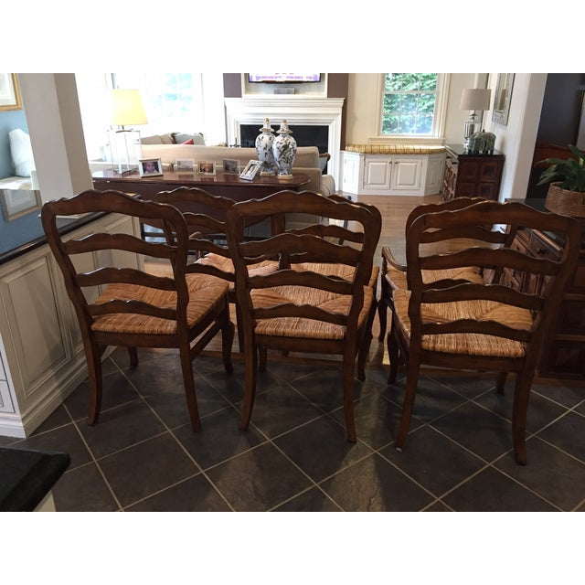 Image of Hooker Furniture Ladder Back Chairs - Set of 6