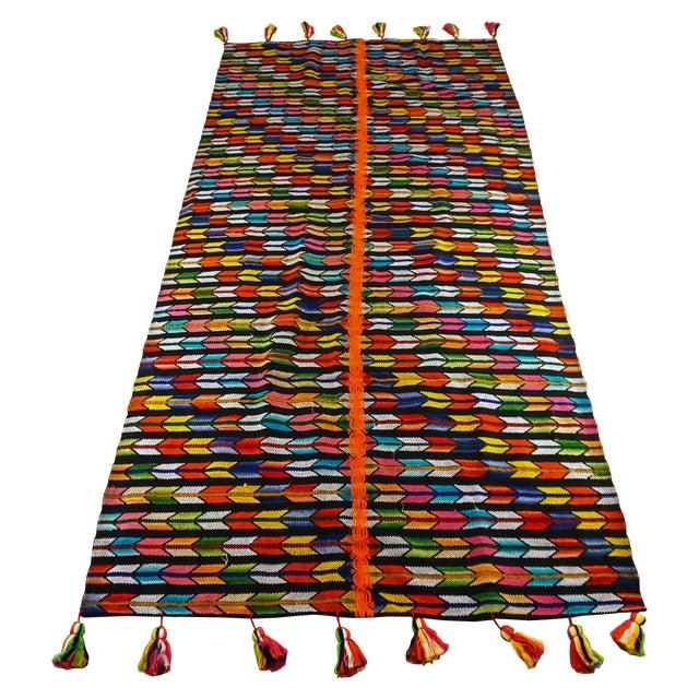 Multicolor Tassel Blanket - Image 1 of 3