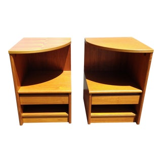 Danish Mid-Century Modern Teak Nightstands- A Pair