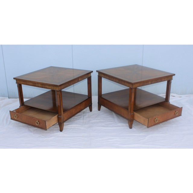 1960s Baker Tiered Nightstands - A Pair - Image 4 of 9