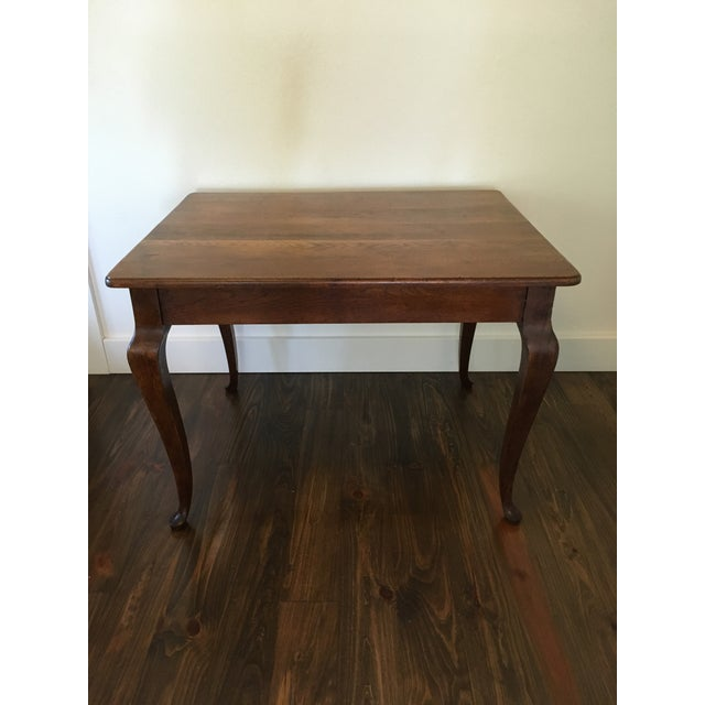 Antique Oak Cabriole Leg Farm Table - Image 2 of 8