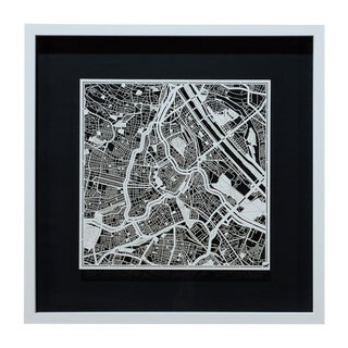 Sarreid Ltd. Vienna Framed & Matted Map