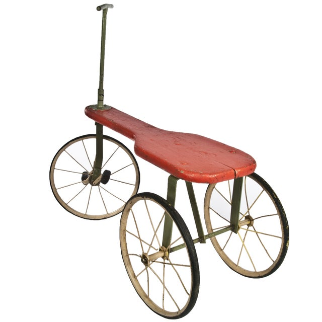Antique Painted Wood Tricycle - Image 3 of 3