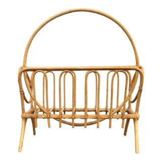 Bohemian Bamboo Rattan Magazine Rack