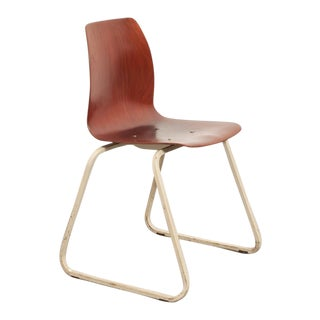Industrial Bent Plywood School Chair