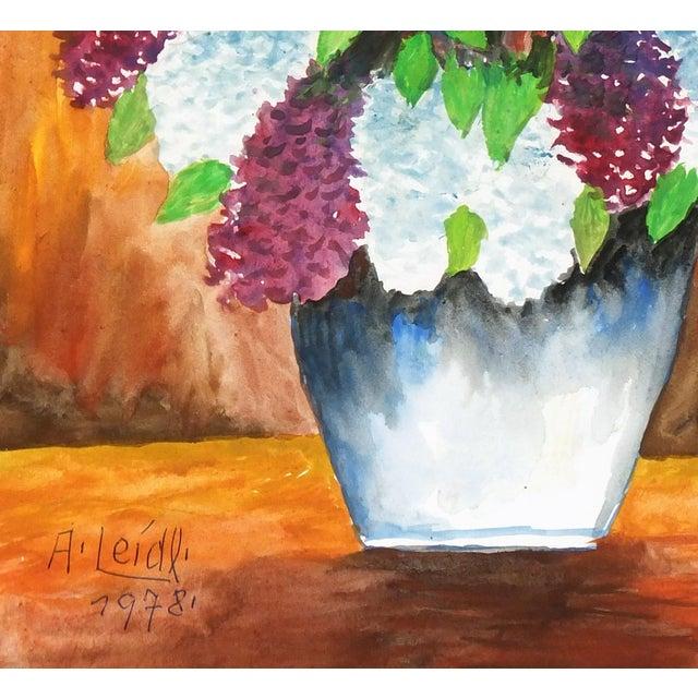 Albert Liedl Vintage 1978 Flowers Painting - Image 2 of 4