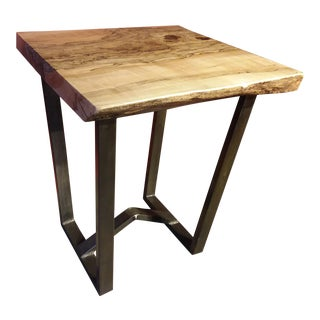 Spalted Maple Live Edge Side Table