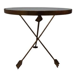 Brass Tripod Arrow Base Side Table