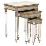 Image of Modern Design Gilt & Mirrored Nesting Tables - 3