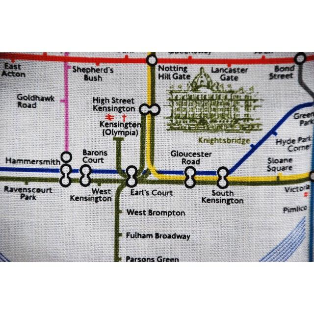 Vintage Harrod's London Underground Knightsbridge Tea Towel - Image 8 of 8