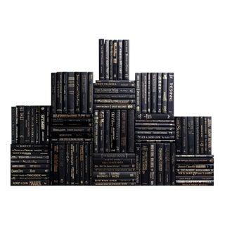 Modern Black & Gold Book Wall, S/100