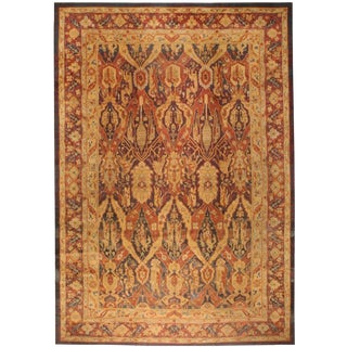 Exceptional Oversize Antique 19th Century Indian Amritsar Carpet
