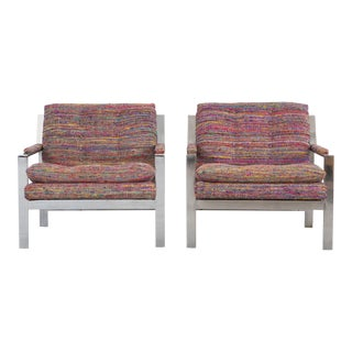 Cy Mann Mid-Century Flat Bar Lounge Chairs- A Pair