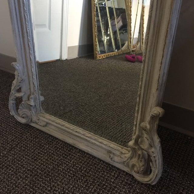 Grey Relief Beveled Floor Mirror - Image 6 of 7