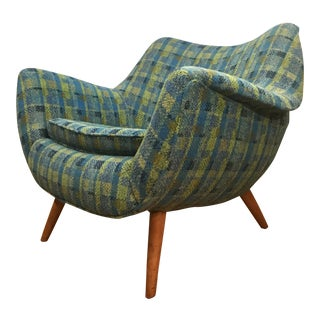 Sculptural Lawrence Peabody for Selig Lounge Chair