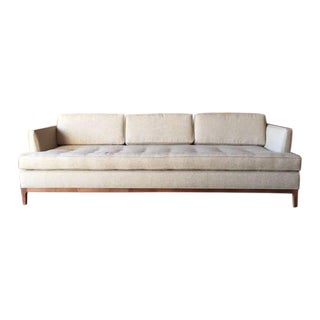 Mid-Century Style Oatmeal Custom Sofa