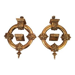 Antique Brass Door Knockers - A Pair