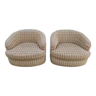 Pearson Mid-Century Modern Swivel Chairs - a Pair