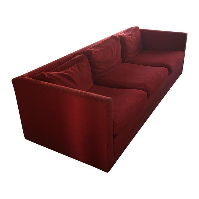 Image of Mid-Century Red Sofa