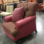 Image of Pink Leather Club Chair