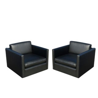 Black Pfister Lounge Chairs - A Pair