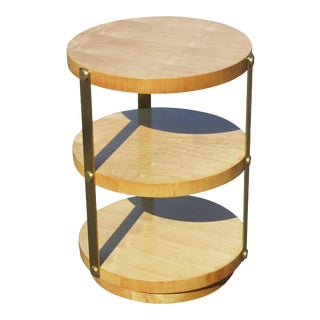 Donald Deskey Style Round Art Deco Side Table