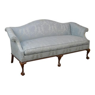 Hickory Chair Mahogany Ball & Claw Foot Chippendale Style Sofa