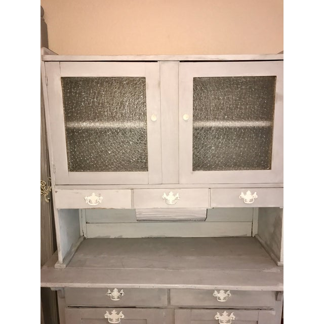 Vintage Gray Painted Hutch - Image 4 of 6