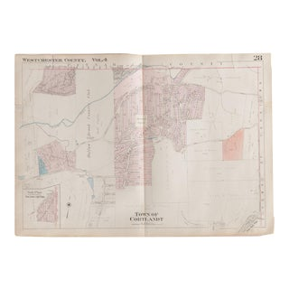 Vintage Hopkins Map of Town of Cortlandt