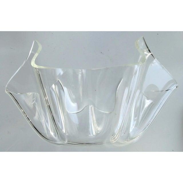 Mid-Century Modern Lucite Handkerchief Bowl - Image 2 of 9