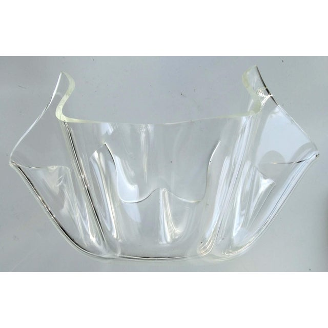 Image of Mid-Century Modern Lucite Handkerchief Bowl