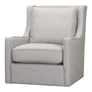 Spectra Home Track Arm Gray Swivel Chair
