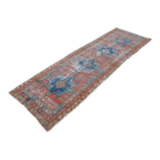 Hanmade Persian Melayir Antique Runner Rug - 10' x 3'
