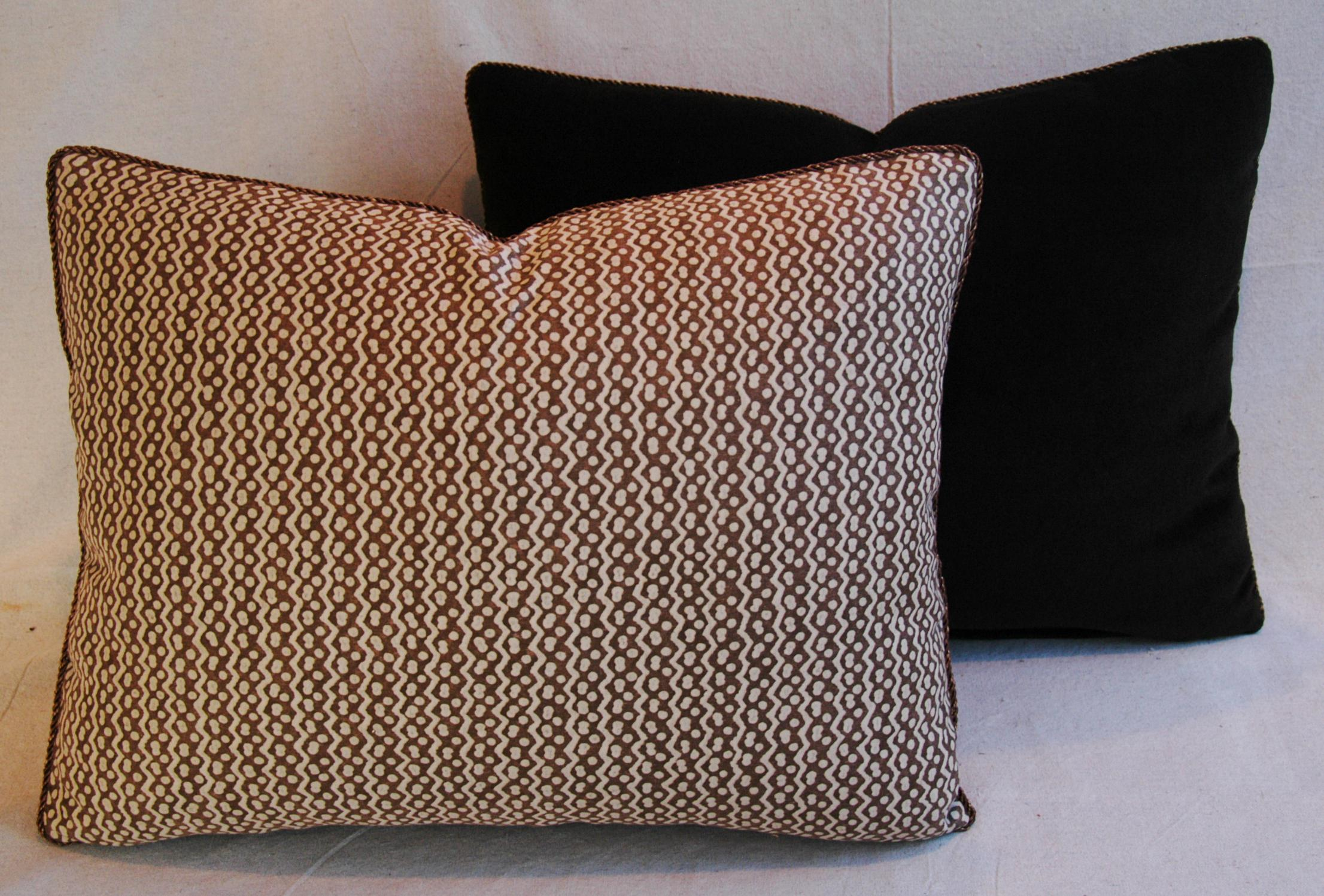 Italian Mariano Fortuny Tapa Feather & Down Pillows - a ...