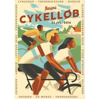 Contemporary Mads Berg Cykellob Biking Poster