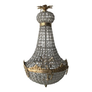 Gold Ringlet Art Deco Empire Chandelier