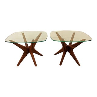 Adrian Pearsall Craft Associates Mid-Century Danish Modern End Tables - a Pair