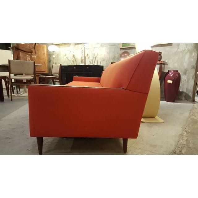 Orange Mid Century Sofa: Mid-Century Modern Paul McCobb Style Orange Sofa