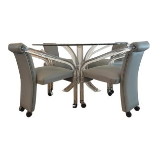Charles Hollis Jones Lucite Dining Table & Chair Set