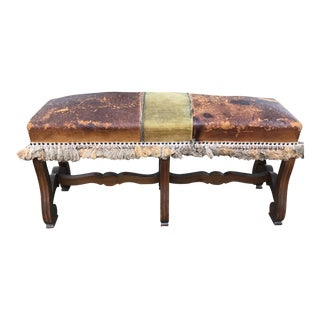 Vintage Leather Bench