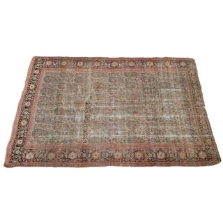 "Antique Senneh Persian Rug - 4'2"" x 6'1"""